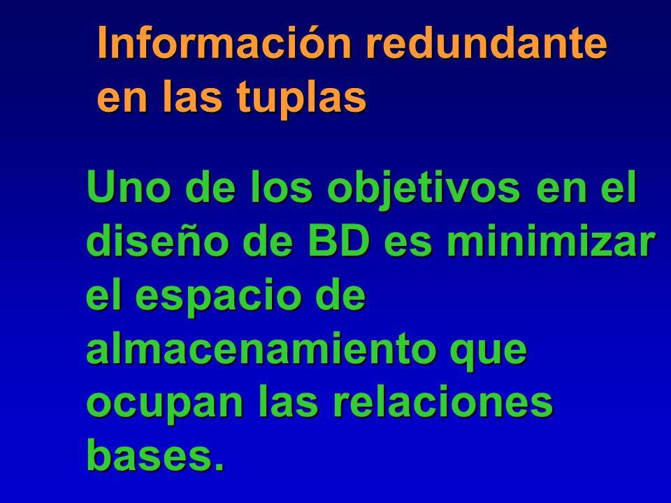 Información redundante en las tuplas