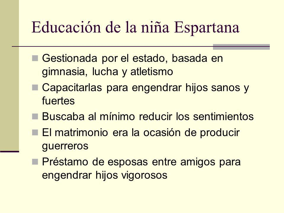 Educación de la niña Espartana