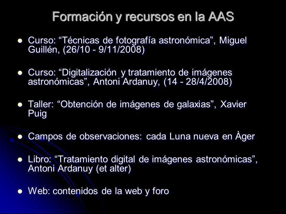 Formación y recursos en la AAS