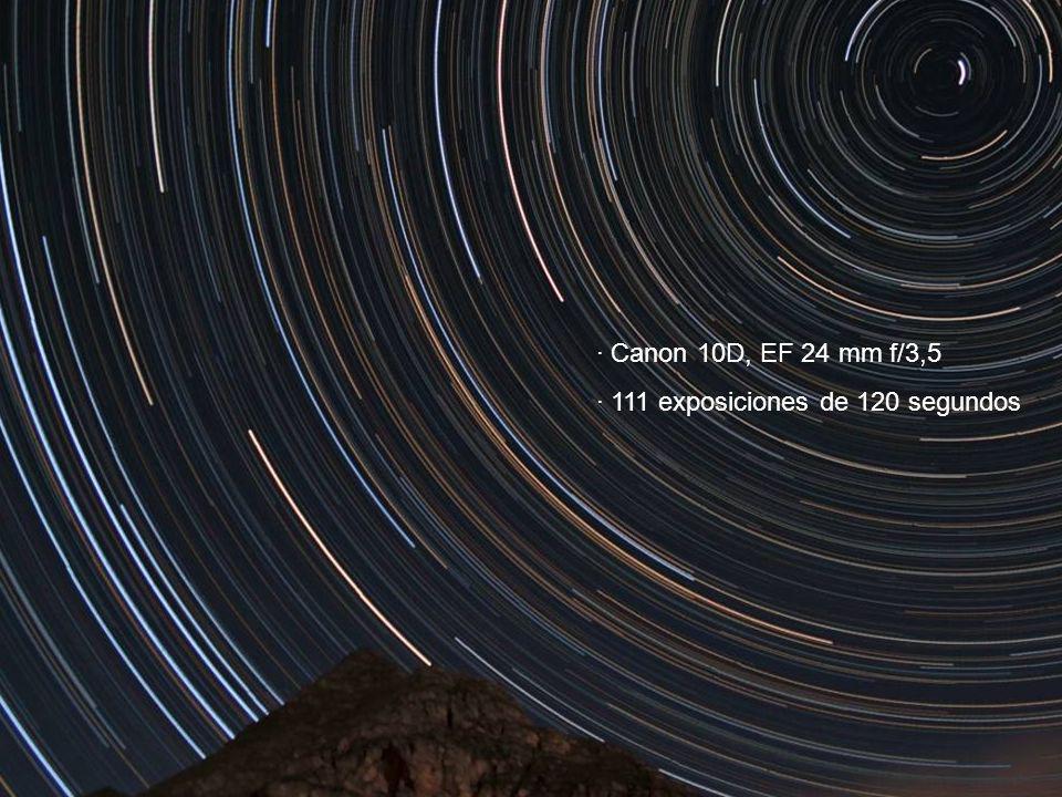 · 111 exposiciones de 120 segundos