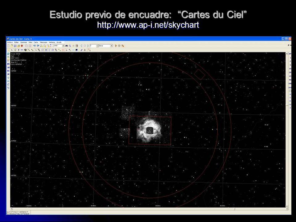 Estudio previo de encuadre: Cartes du Ciel http://www. ap-i