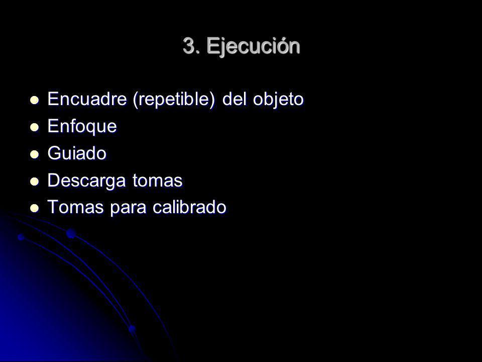 3. Ejecución Encuadre (repetible) del objeto Enfoque Guiado