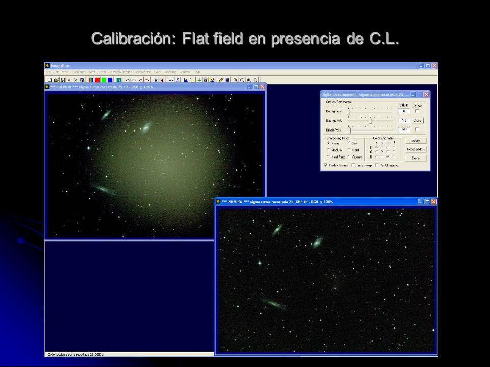 Calibración: Flat field en presencia de C.L.
