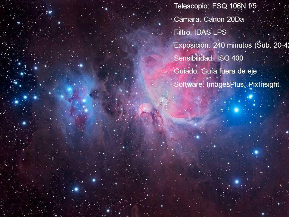 · Exposición: 240 minutos (Sub. 20-420 s.) · Sensibilidad: ISO 400