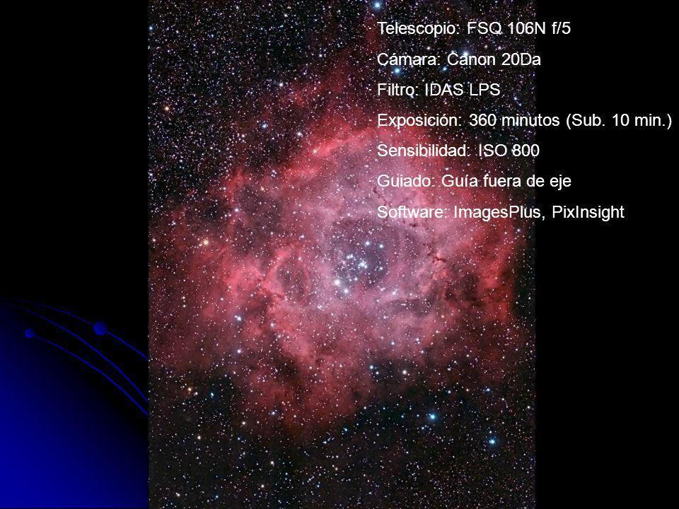 · Exposición: 360 minutos (Sub. 10 min.) · Sensibilidad: ISO 800