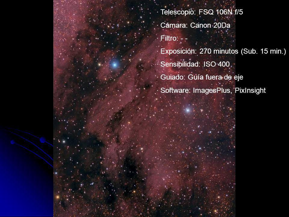 · Exposición: 270 minutos (Sub. 15 min.) · Sensibilidad: ISO 400