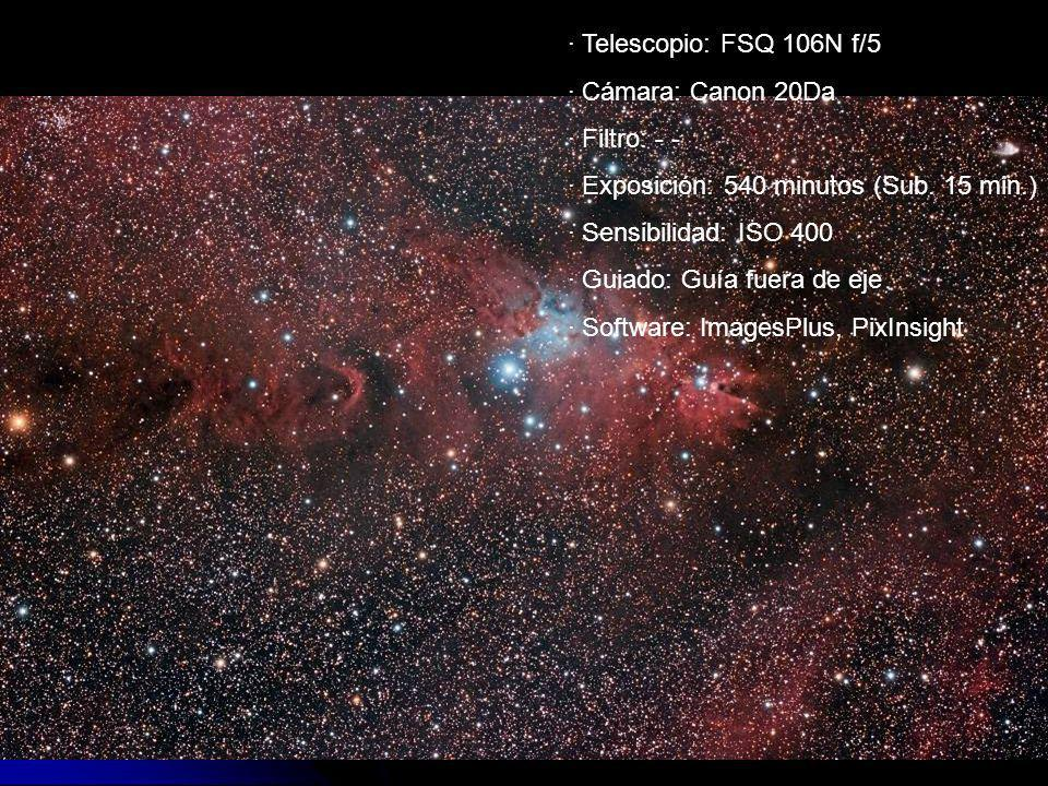 · Exposición: 540 minutos (Sub. 15 min.) · Sensibilidad: ISO 400