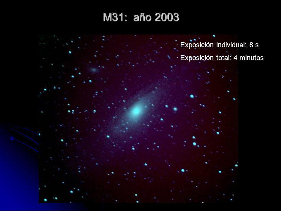 M31: año 2003 · Exposición individual: 8 s