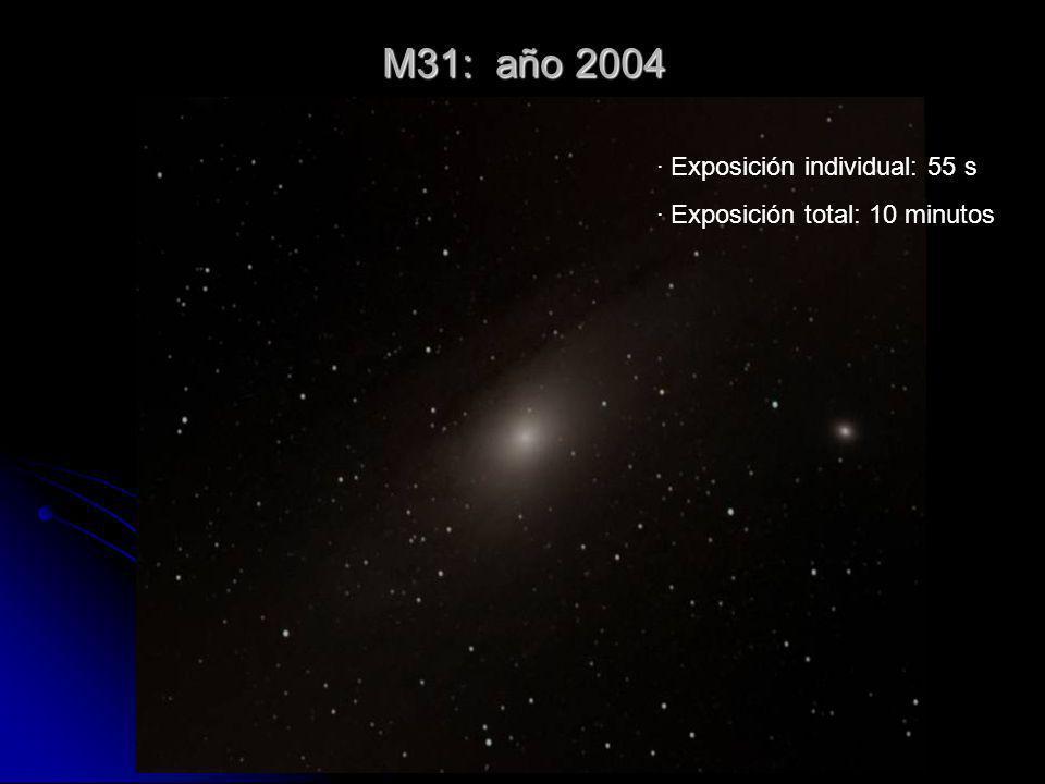 M31: año 2004 · Exposición individual: 55 s