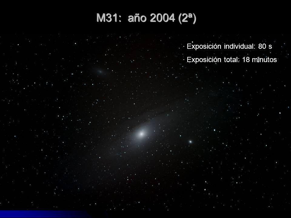 M31: año 2004 (2ª) · Exposición individual: 80 s