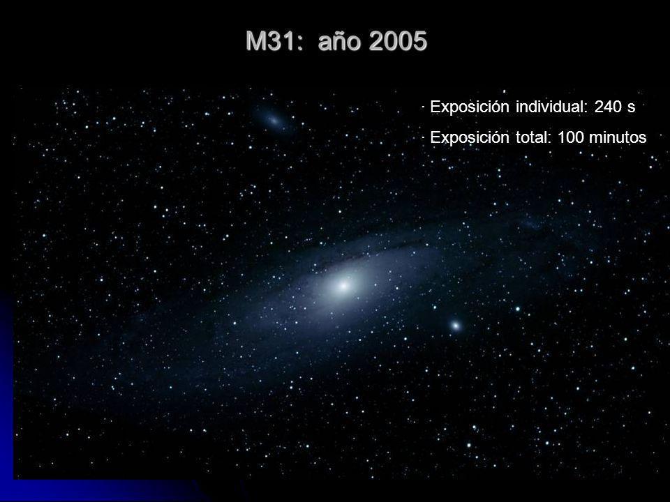 M31: año 2005 · Exposición individual: 240 s