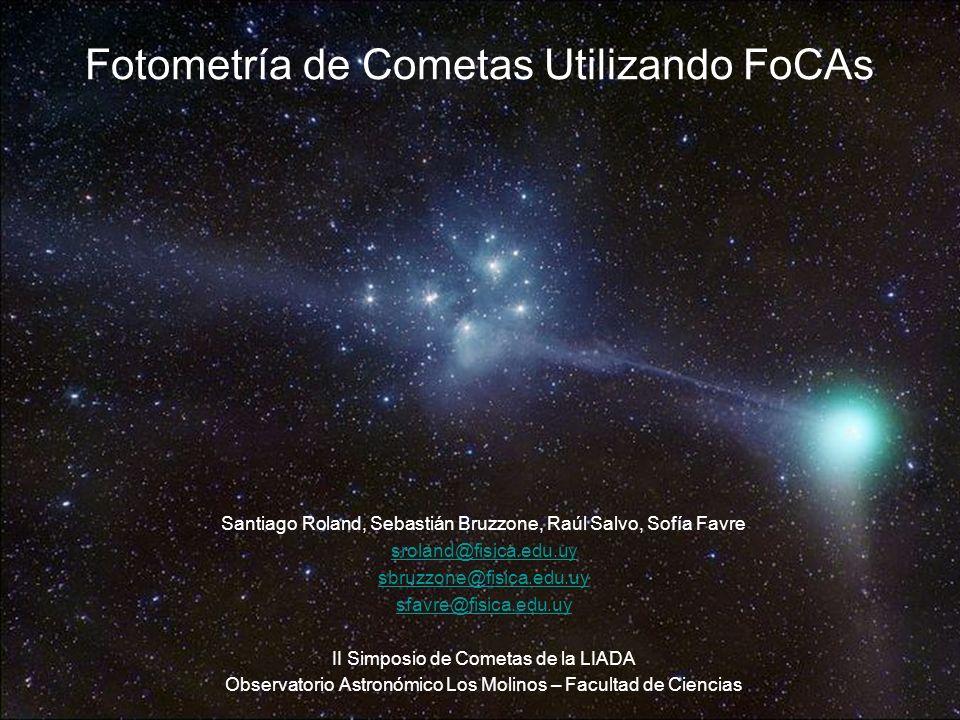 Fotometría de Cometas Utilizando FoCAs