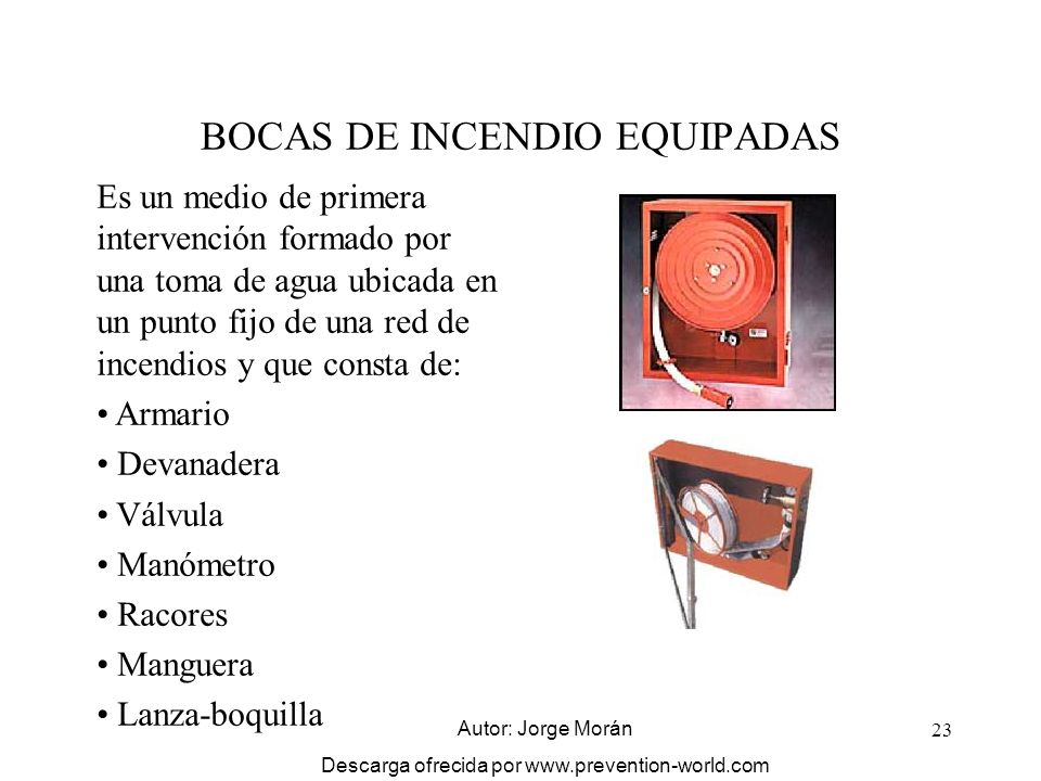 BOCAS DE INCENDIO EQUIPADAS