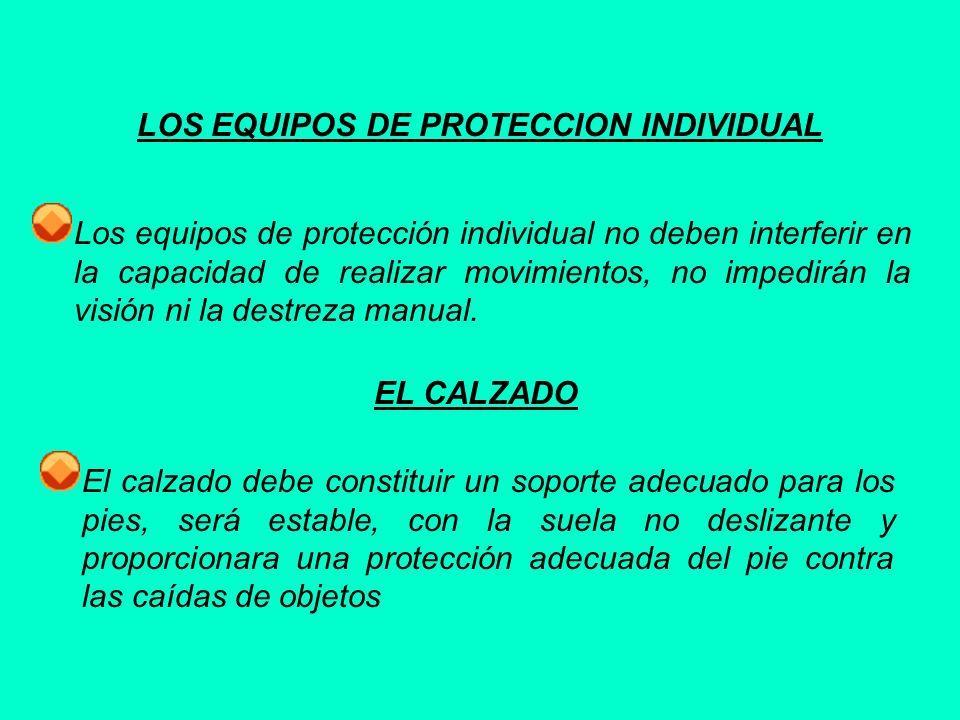 LOS EQUIPOS DE PROTECCION INDIVIDUAL