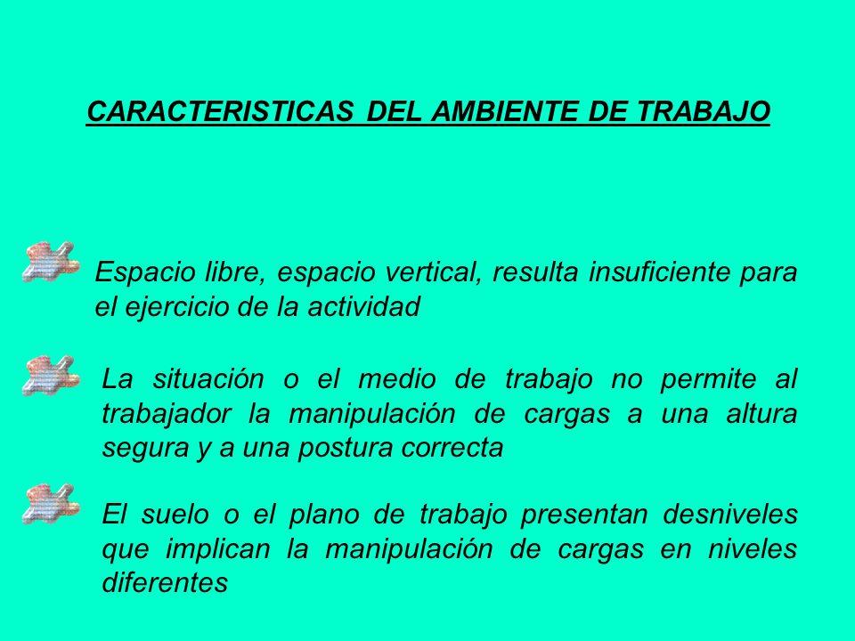 CARACTERISTICAS DEL AMBIENTE DE TRABAJO