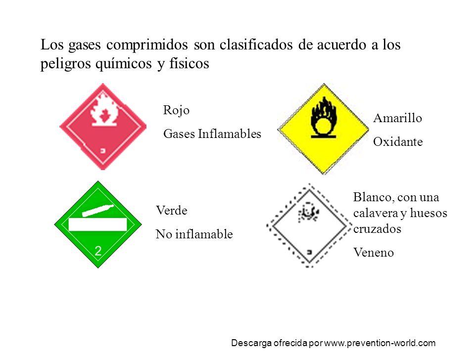 Los gases comprimidos son clasificados de acuerdo a los peligros químicos y físicos