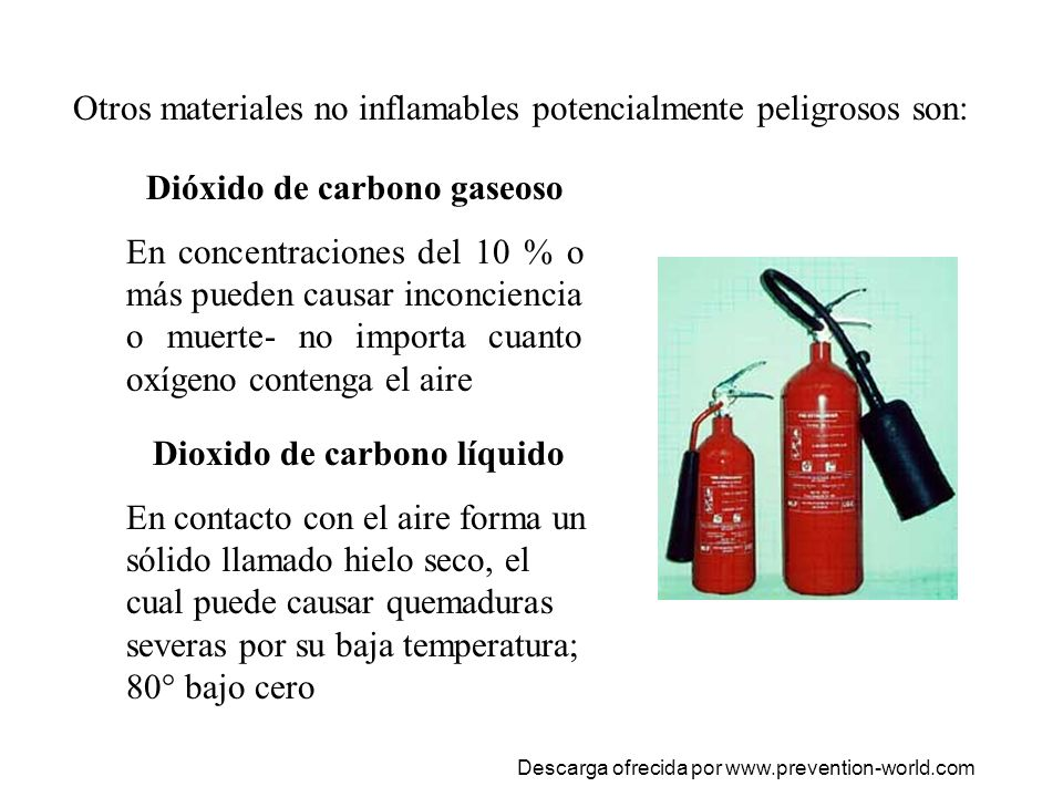 Dióxido de carbono gaseoso Dioxido de carbono líquido
