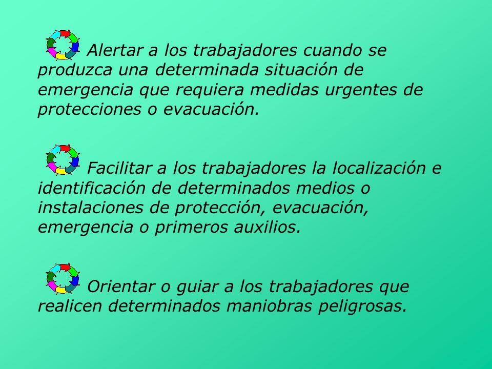 Alertar a los trabajadores cuando se produzca una determinada situación de emergencia que requiera medidas urgentes de protecciones o evacuación.