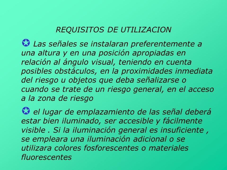 REQUISITOS DE UTILIZACION