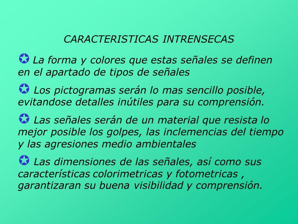 CARACTERISTICAS INTRENSECAS