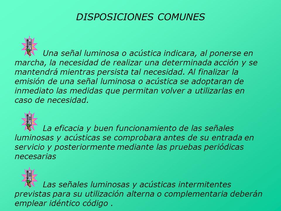 DISPOSICIONES COMUNES