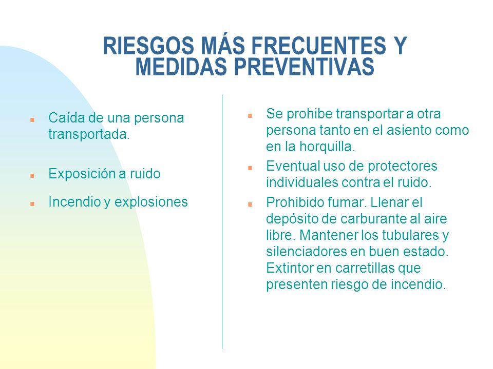 RIESGOS MÁS FRECUENTES Y MEDIDAS PREVENTIVAS