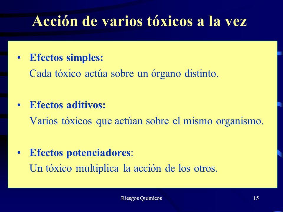 Acción de varios tóxicos a la vez
