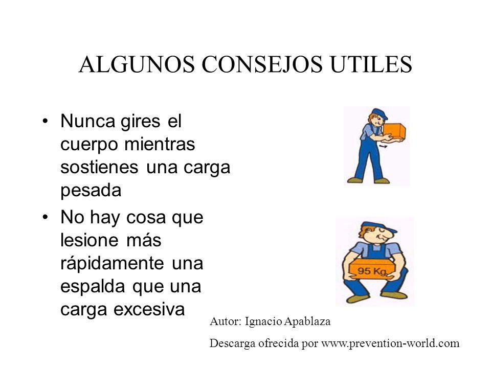 ALGUNOS CONSEJOS UTILES