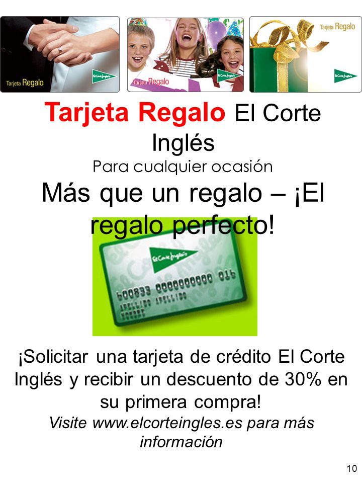 Tarjeta Regalo El Corte Inglés
