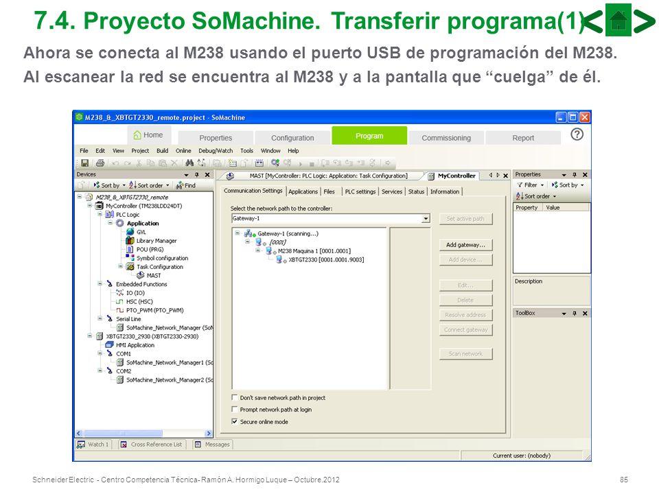 7.4. Proyecto SoMachine. Transferir programa(1)