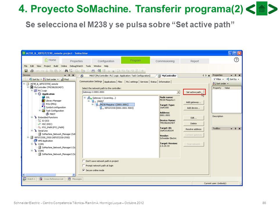 4. Proyecto SoMachine. Transferir programa(2)
