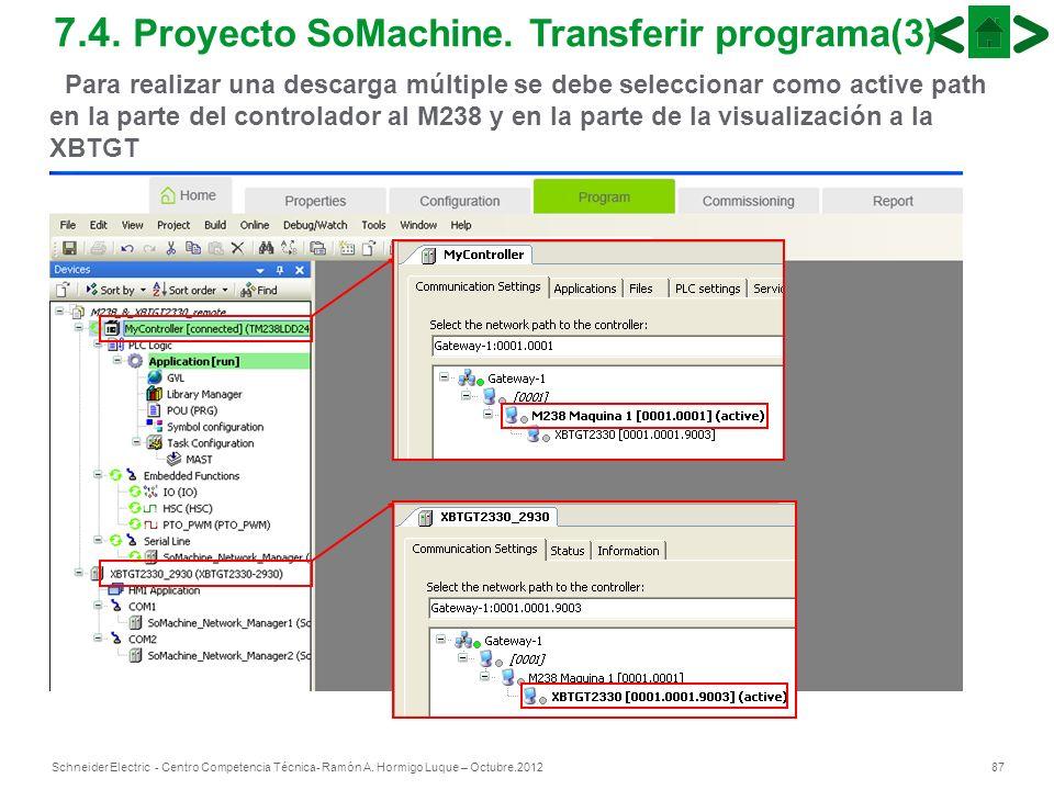 7.4. Proyecto SoMachine. Transferir programa(3)