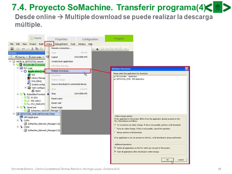7.4. Proyecto SoMachine. Transferir programa(4)