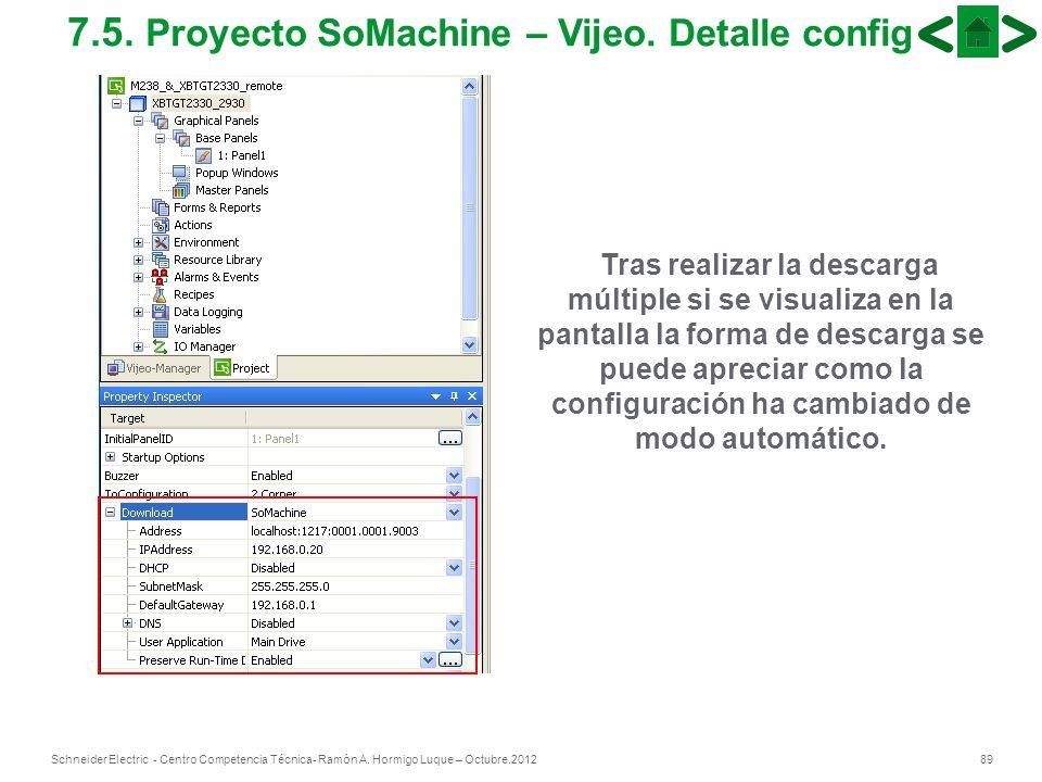 7.5. Proyecto SoMachine – Vijeo. Detalle config