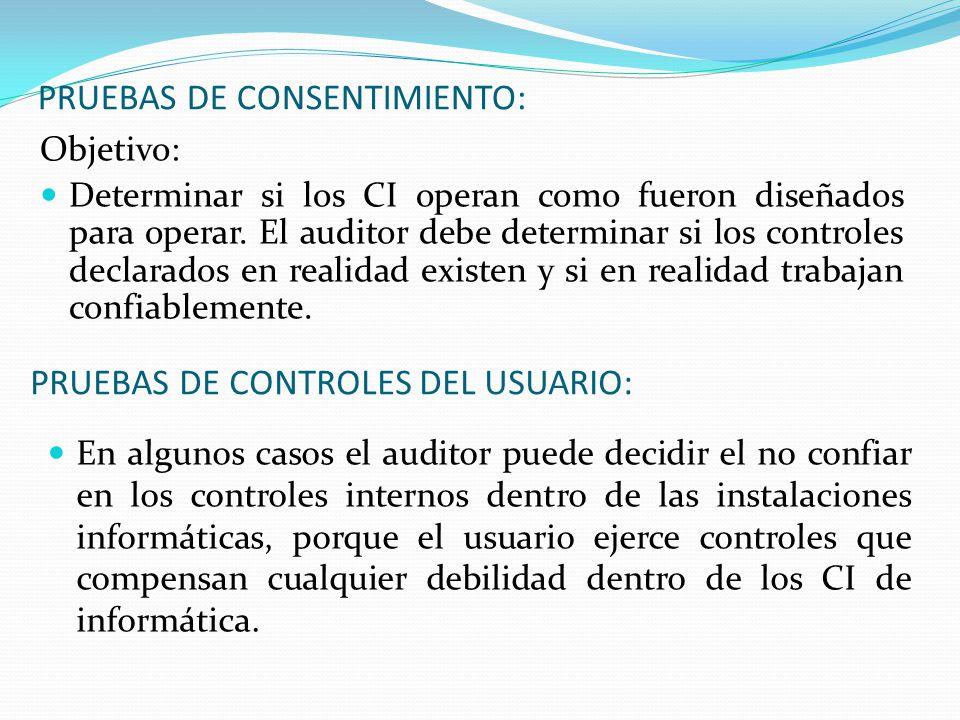 PRUEBAS DE CONSENTIMIENTO: