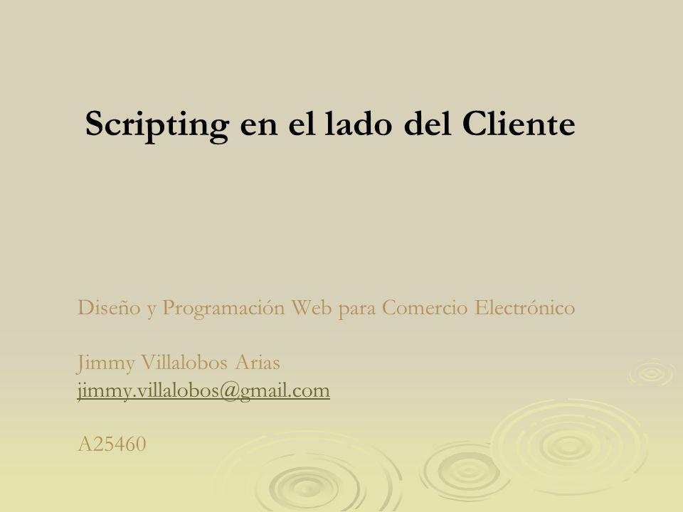 Scripting en el lado del Cliente