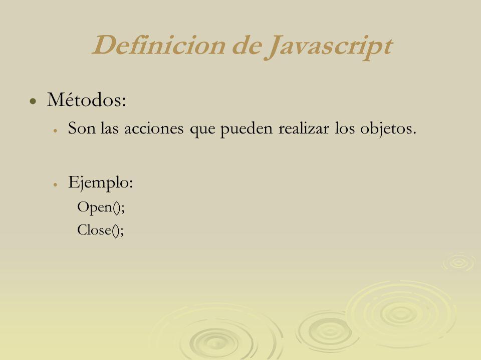 Definicion de Javascript