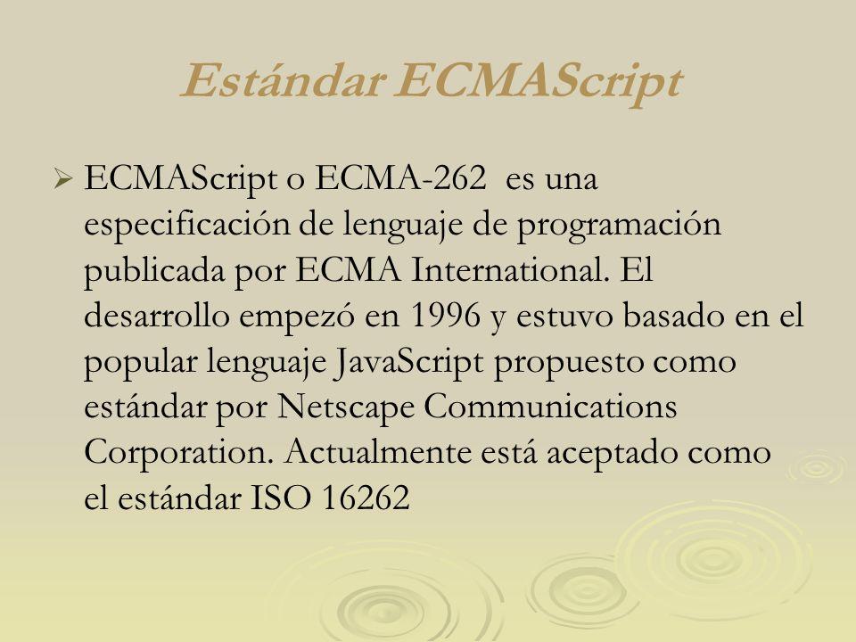 Estándar ECMAScript