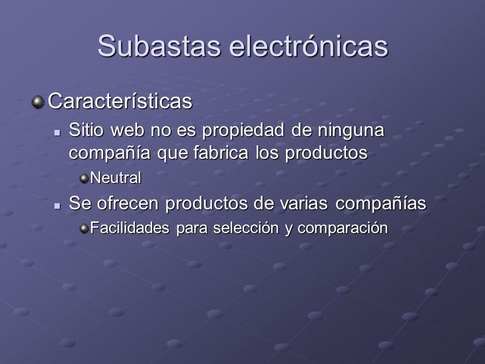 Subastas electrónicas