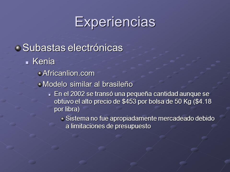 Experiencias Subastas electrónicas Kenia Africanlion.com