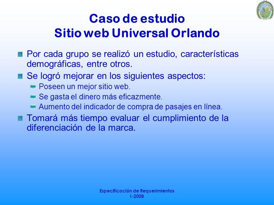 Caso de estudio Sitio web Universal Orlando