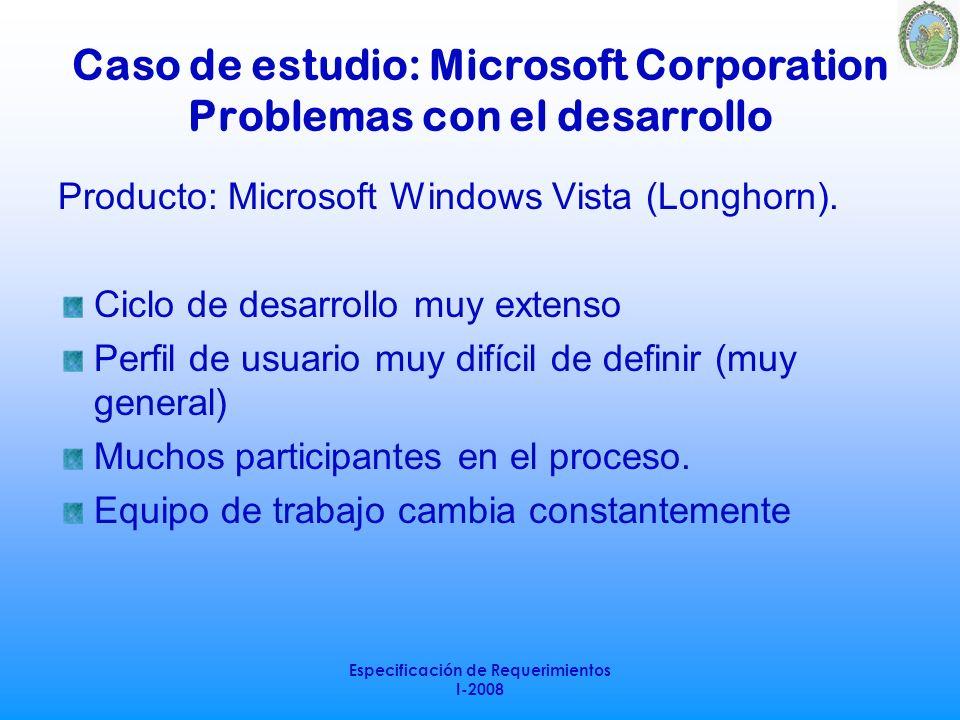 Caso de estudio: Microsoft Corporation Problemas con el desarrollo