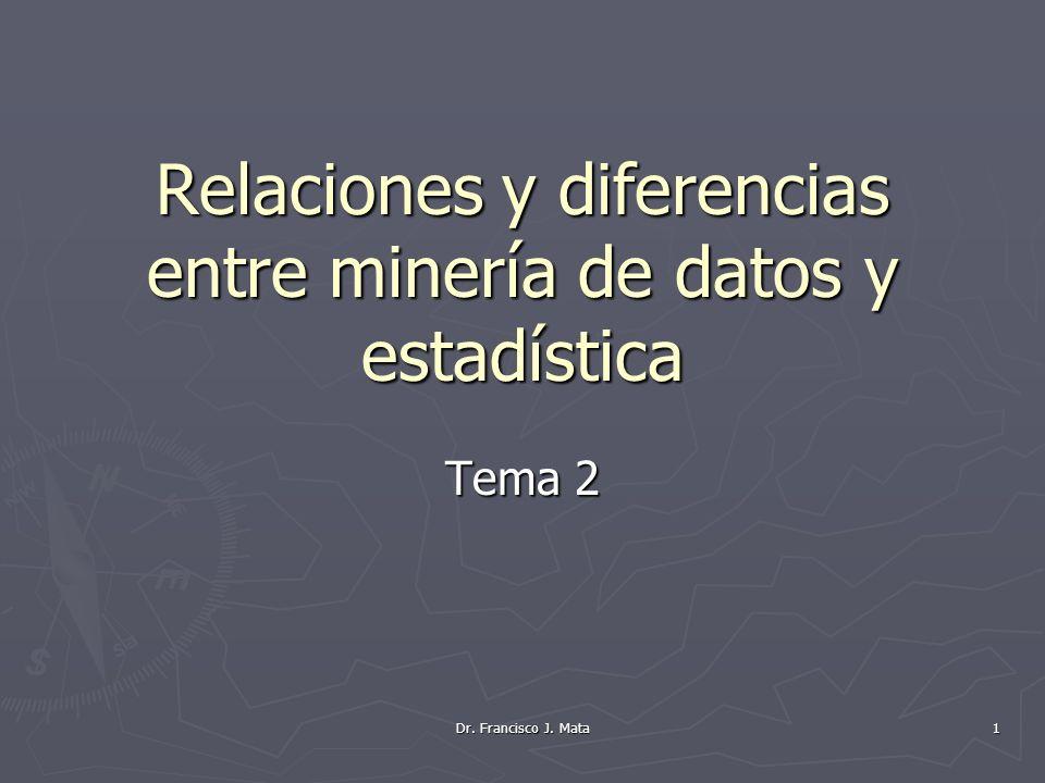 Relaciones y diferencias entre minería de datos y estadística