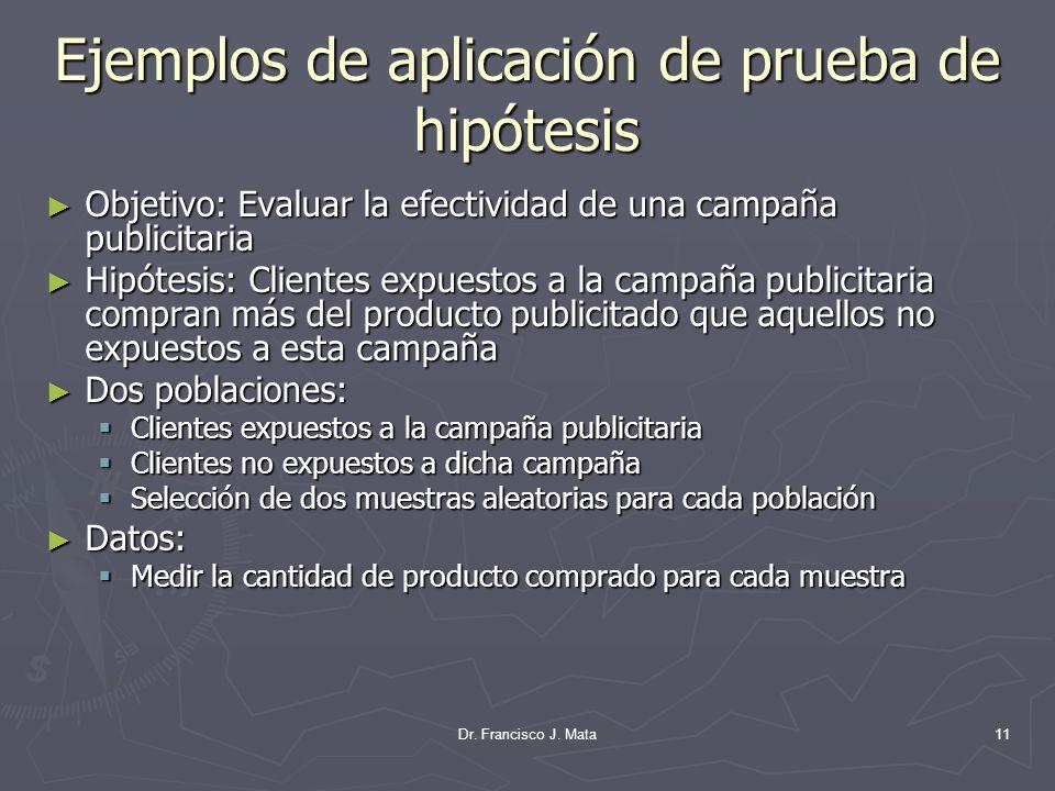 Ejemplos de aplicación de prueba de hipótesis