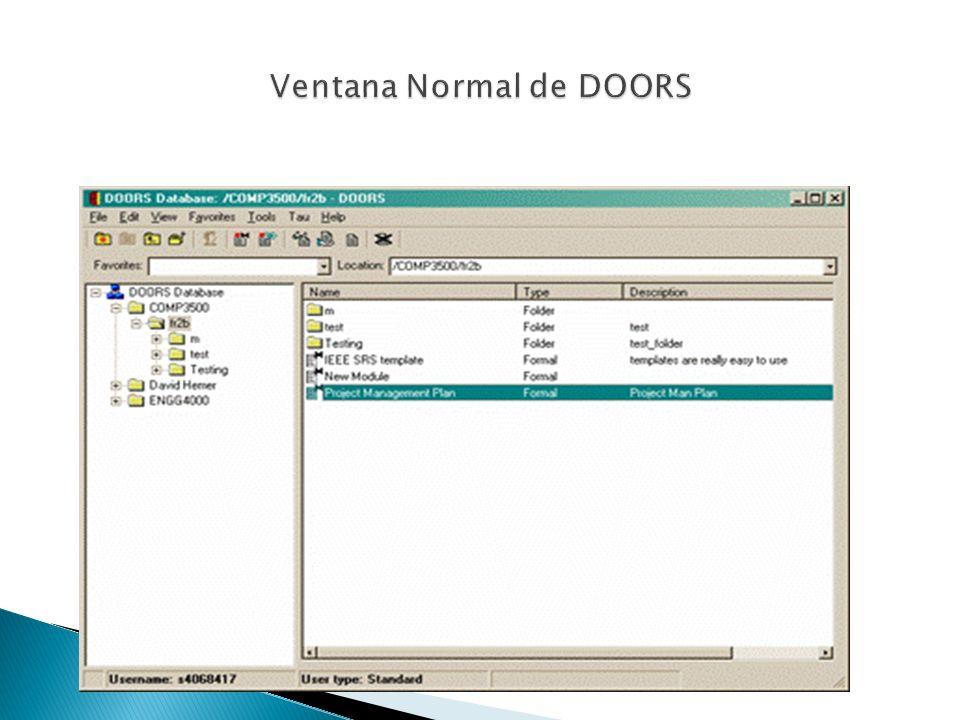 Ventana Normal de DOORS