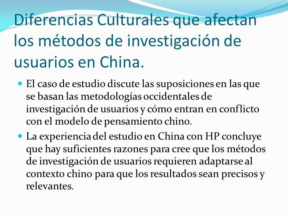 Diferencias Culturales que afectan los métodos de investigación de usuarios en China.