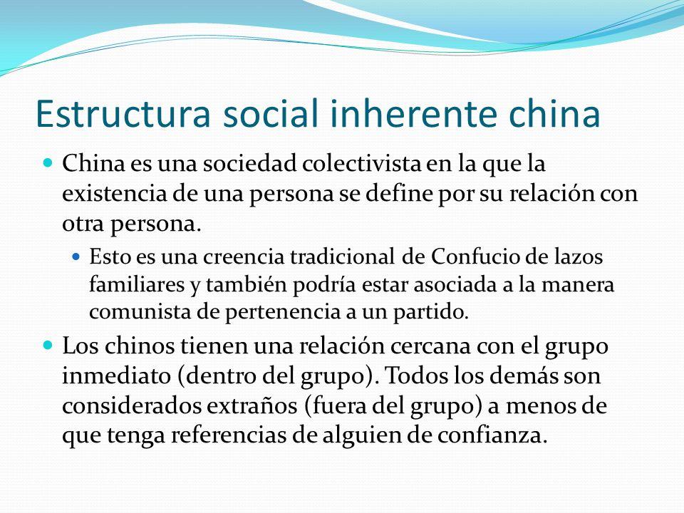 Estructura social inherente china
