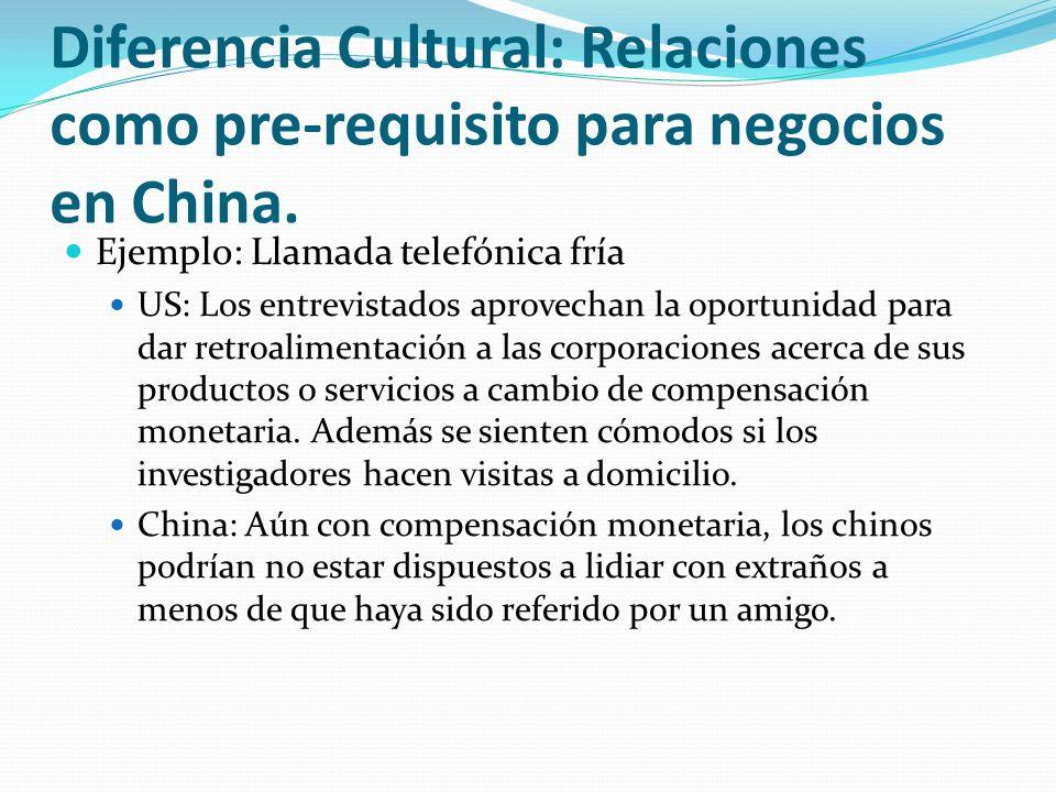Diferencia Cultural: Relaciones como pre-requisito para negocios en China.