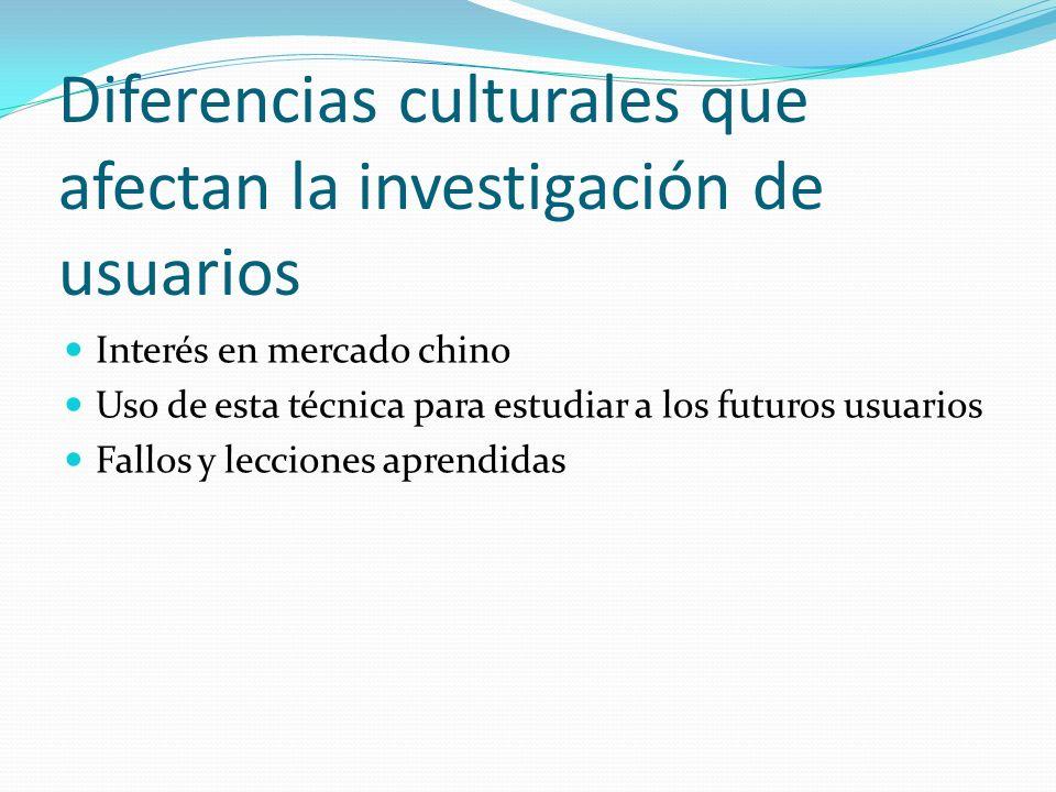 Diferencias culturales que afectan la investigación de usuarios
