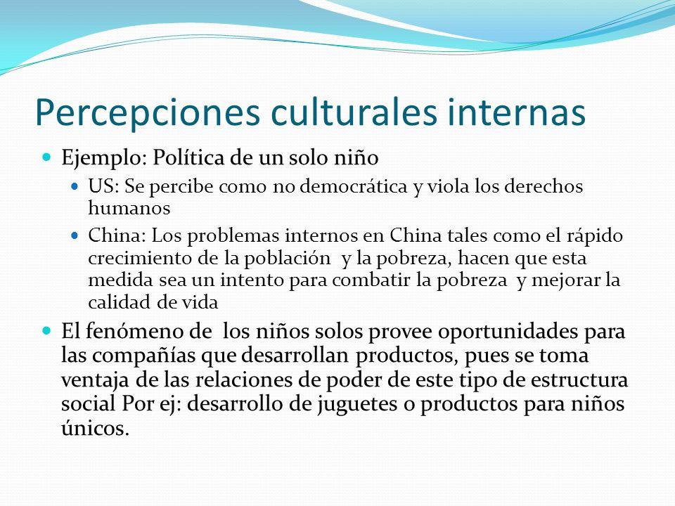 Percepciones culturales internas
